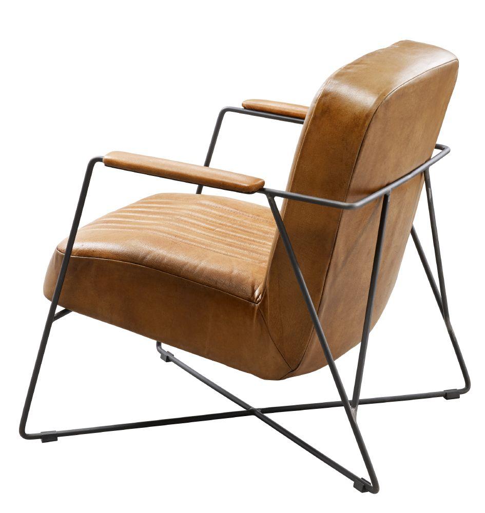 fauteuil dani cognac