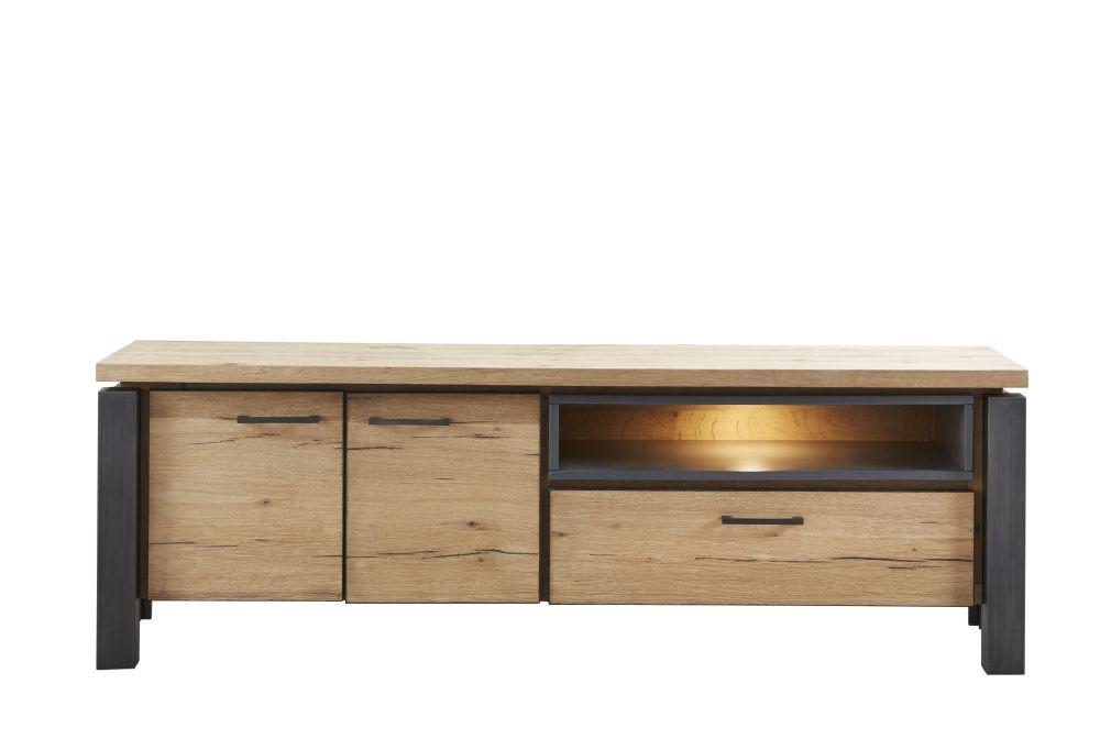 tv-meubel lucania eikenhout/metaal