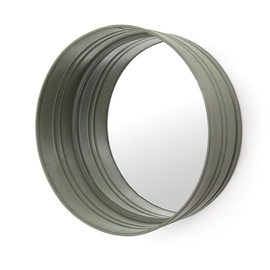 spiegel round metaal groen