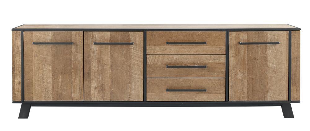 dressoir captona houtstructuur/metaal