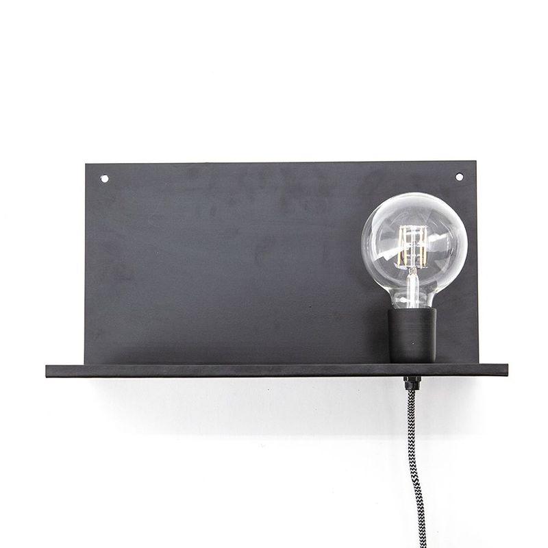 wandlamp hyde zwart metaal