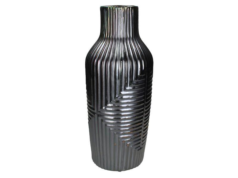 vaas stoneware grijs 47cm