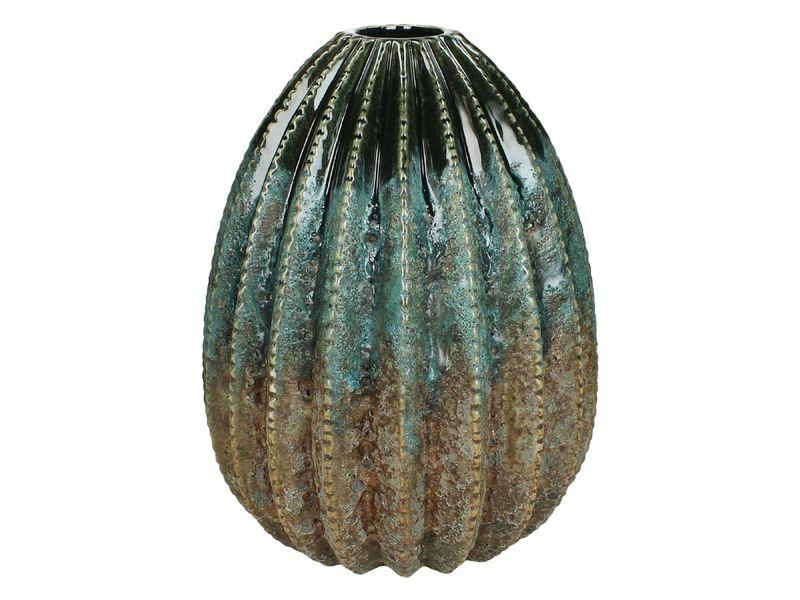 vaas stoneware blauw 25cm