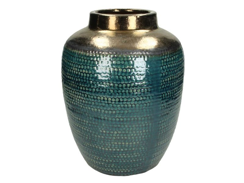vaas ceramic blauw 30cm