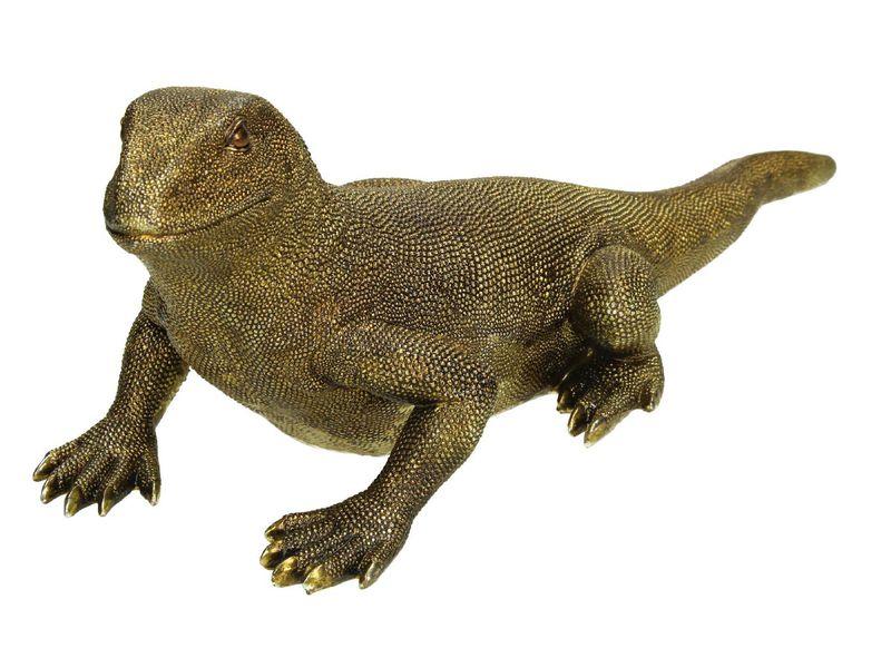 ornament iguana goud