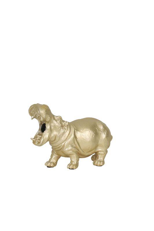 tafellamp hippo goud