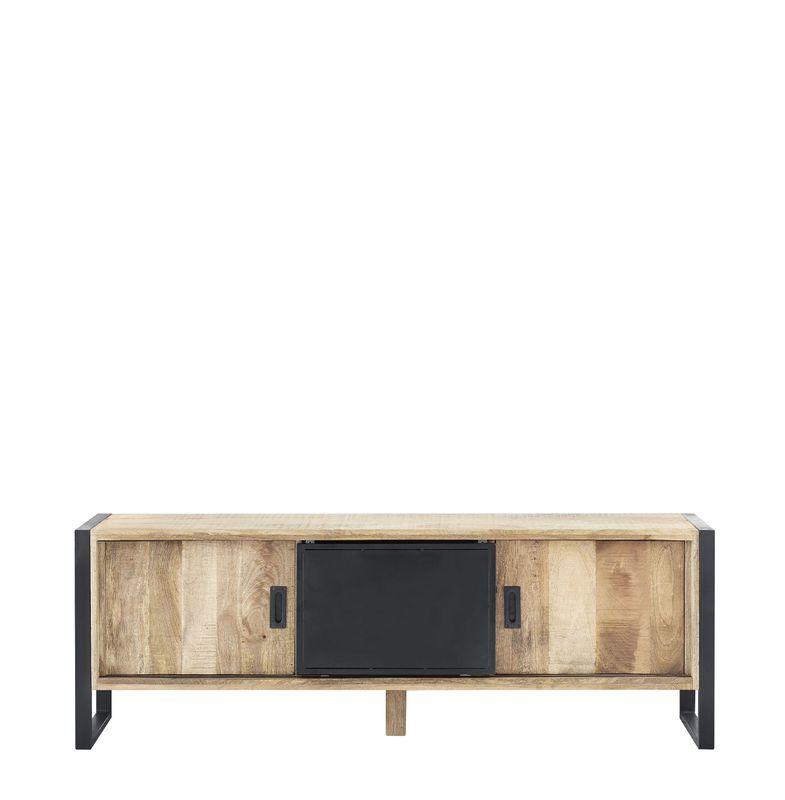 tv-meubel slider mangohout/metaal