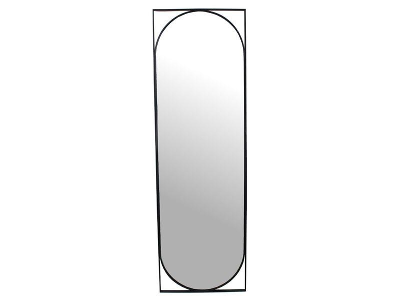 spiegel metaal zwart 117cm
