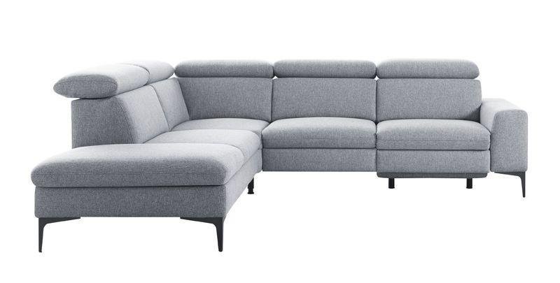Hoekbank met relax Rapalo grijs